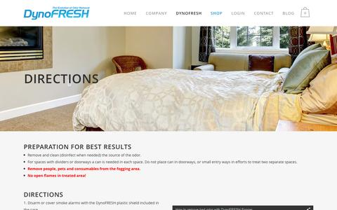 Screenshot of Maps & Directions Page dynofresh.com - Directions - DynoFresh Odor Removal Products - captured Feb. 9, 2016