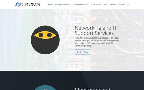 Screenshot of Services Page hermeticnetworks.com - Services - Hermetic Networks, Inc. - captured July 18, 2018