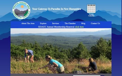 Screenshot of Home Page ossipeevalley.org - Welcome to the Ossipee Valley Chamber of Commerce - captured Sept. 30, 2018