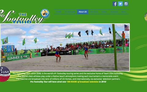 Screenshot of About Page footvolley.net - pro-footvolley-tour | About US - captured Nov. 12, 2016