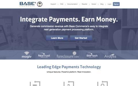 Screenshot of Home Page basecommerce.com - Base Commerce - captured Jan. 27, 2015