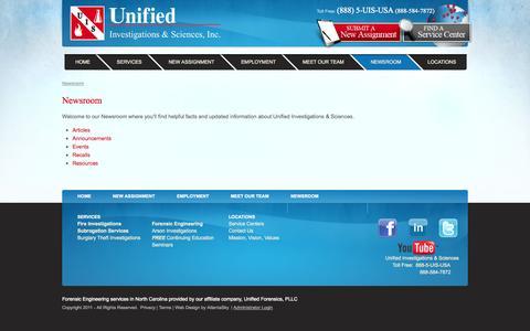 Screenshot of Press Page uis-usa.com - Newsroom - captured Oct. 27, 2014