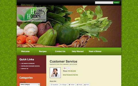 Screenshot of Support Page healthyhomesofatlanta.com - Customer Service  |  Healthy Homes, LLC - captured Jan. 28, 2016