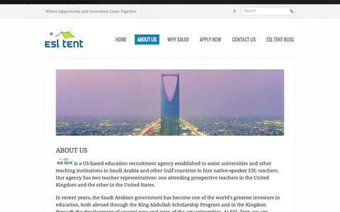 Screenshot of About Page esltent.com - Our Representatives - captured Sept. 26, 2014