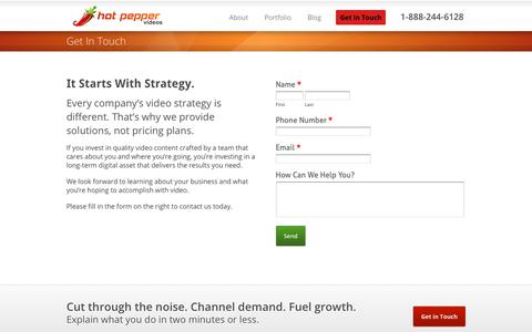 Screenshot of Pricing Page hotpeppervideos.com - Explainer Video Pricing - Get a Customized Price Quote Today - captured Dec. 5, 2018
