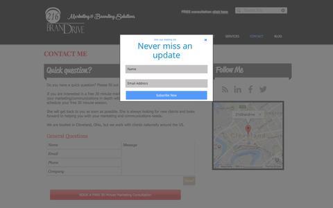 Screenshot of Contact Page 216brandrive.com - Contact 216 Brandrive - captured Nov. 7, 2017