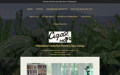 Screenshot of Contact Page cigar-mojo.com - Join Our Mailing List — Cigar Mojo - captured Sept. 29, 2014