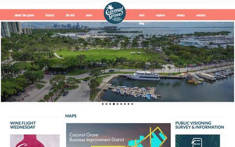 Screenshot of Maps & Directions Page coconutgrove.com - CoconutGrove |  » Maps - captured Aug. 11, 2017