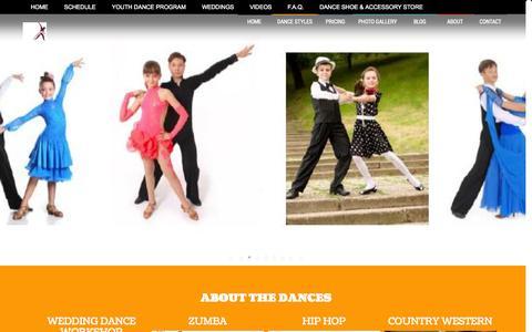 Screenshot of Home Page hitthegrounddancing.com - Dance lessons for Fort Worth - captured Sept. 30, 2014