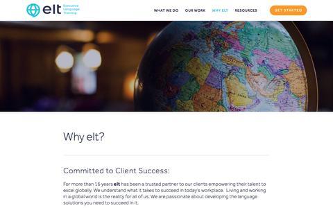 Screenshot of Locations Page eltlearn.com - Locations — Executive Language Training - captured Dec. 22, 2019