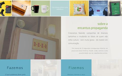 Screenshot of Home Page encantuspropaganda.com.br - Encantus Propaganda - captured July 24, 2018