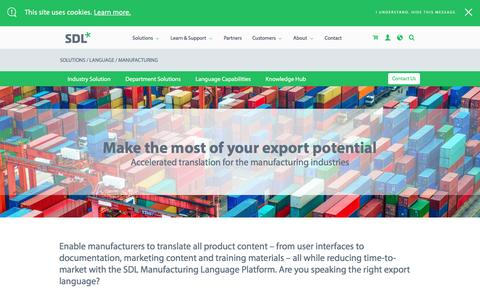 Language Translation Services for Manufacturing | SDL