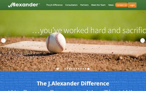 Screenshot of Home Page jalexandersports.com - Jalexander Sports | Sports & Entertainment Management - captured Oct. 3, 2014