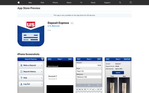 Deposit Express on the AppStore