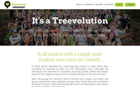 Screenshot of About Page greenpop.org - About Us | Greenpop - captured July 25, 2018