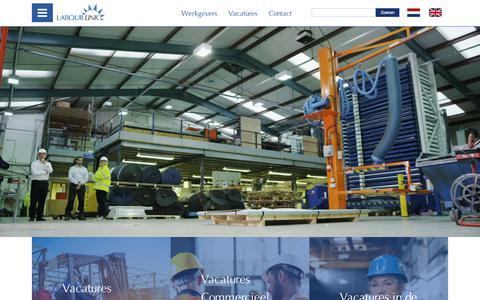 Screenshot of Jobs Page labourlink.nl - Vactures Archief - LabourLink LabourLink - captured Sept. 26, 2018
