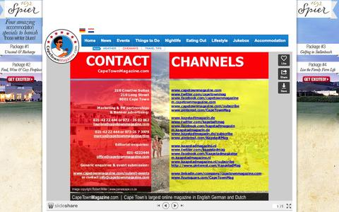 Screenshot of Contact Page capetownmagazine.com - Contact Us - captured Sept. 18, 2014