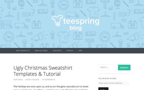 Screenshot of Blog teespring.com - Teespring Blog | A resource to inspire, empower & support your creativi(tee), as well as Teespring news, tips & more. Need help? Visit www.teespring.com/contact! - captured Dec. 1, 2015