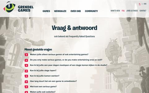 Screenshot of FAQ Page grendel-games.com - FAQ - Grendel Games - captured July 25, 2018