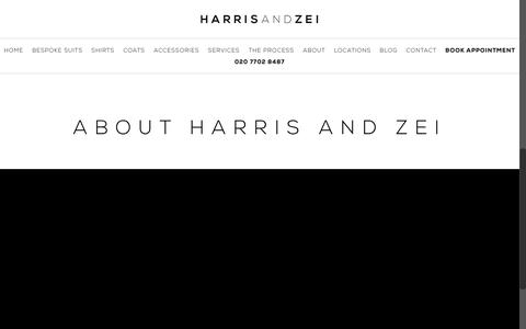Screenshot of About Page harrisandzei.com - About the Company | Harris and Zei, London UK - captured Dec. 7, 2015