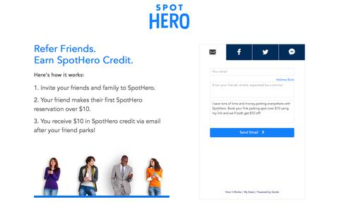 SpotHero Referral Program