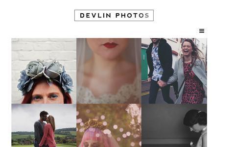 Screenshot of Home Page Menu Page devlinphotos.co.uk - Devlin Photos | Alternative UK Wedding Photographer - captured Oct. 2, 2014