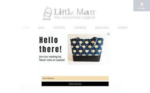Screenshot of Home Page littlemanoriginals.com - Handbags and Accesssories / Whitinville /Little Man - captured Oct. 22, 2018