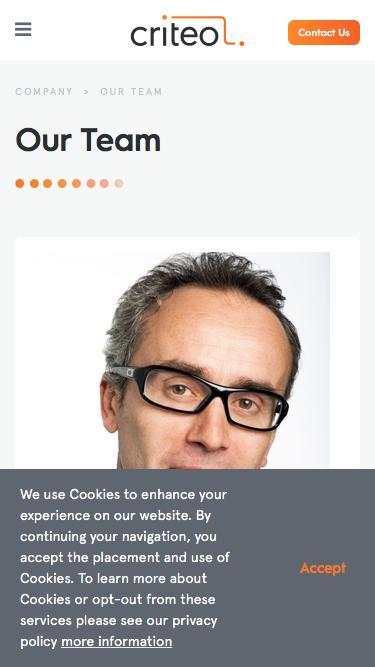Screenshot of Team Page  criteo.com - Our Team | Criteo