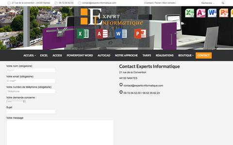 Screenshot of Contact Page experts-informatique.com - Contact - les Experts informatique proche de vous en France - captured Feb. 12, 2018