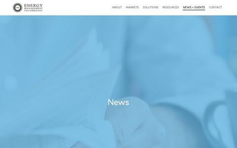 Screenshot of Press Page emcllc.com - News :: Energy Management Collaborative, LLC - captured Nov. 6, 2018
