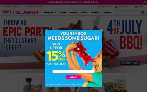 Screenshot of Home Page itsugar.com - IT'SUGAR Candy Store - captured July 4, 2016