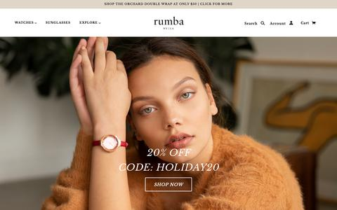 Screenshot of Home Page rumbatime.com - Rumba Watches   Free Shipping On All US Orders - captured Dec. 7, 2018