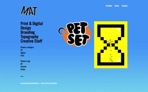 Screenshot of Home Page matstockton.co.uk - Mat Stockton Graphic Design - captured Nov. 27, 2016