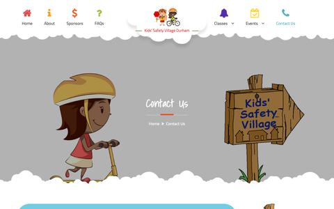 Screenshot of Contact Page durhamsafetyvillage.com - Contact Us | Kids' Safety Village Durham - captured Nov. 15, 2018