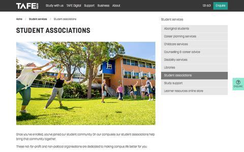 Student Associations - Enrolment and Study - TAFE NSW