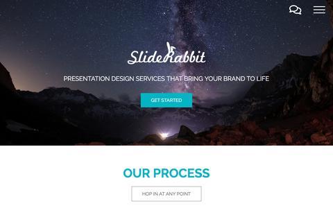 Screenshot of Home Page sliderabbit.com - Home | SlideRabbit - captured Oct. 6, 2019