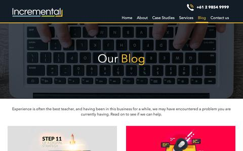 Screenshot of Blog incremental.com.au - Our blog - Incremental - captured Oct. 19, 2018