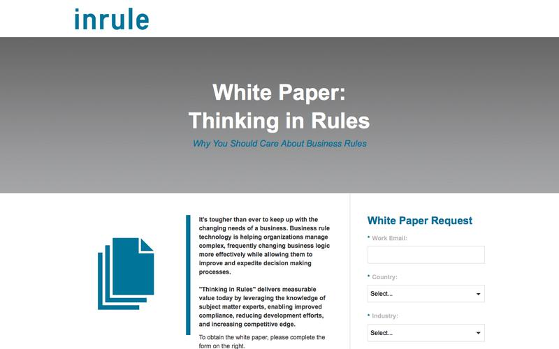 InRule White Paper - Thinking in Rules
