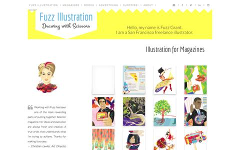Screenshot of Home Page fuzzillustration.com - Fuzz Illustration - captured Jan. 27, 2015