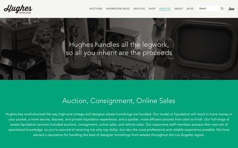 Screenshot of Services Page hughesestatesales.com - Estate Sales Services | Antique Appraisal | Hughes Estate Sales - captured May 22, 2017