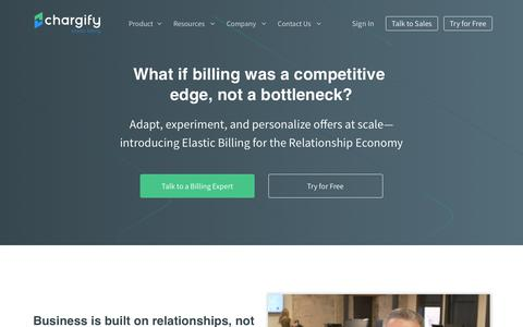 Screenshot of Home Page chargify.com - Recurring Billing | Subscription Billing Software - Chargify - captured May 4, 2018