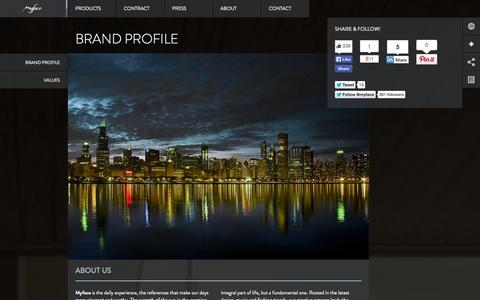 Screenshot of About Page myface.com.pt - Brand - Myface / Outdoor Furniture Design - captured Sept. 23, 2014