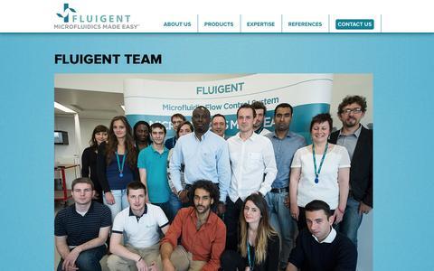 Screenshot of Team Page fluigent.com - Fluigent Team | Fluigent - captured Jan. 8, 2016