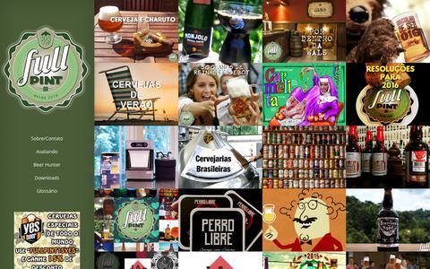 Screenshot of Home Page fullpint.com.br - FullPintBR | Cervejas, Novidades, Notícias, Degustações e Lançamentos. O melhor Blog Cervejeiro do Brasil - captured Feb. 19, 2016