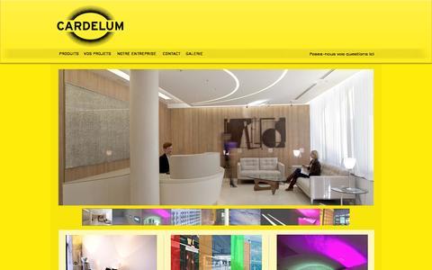 Screenshot of Home Page cardelum.com - Cardelum Création architecture de lumière - captured Sept. 30, 2014