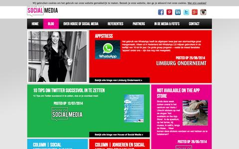 Screenshot of Blog houseofsocialmedia.nl captured Sept. 30, 2014