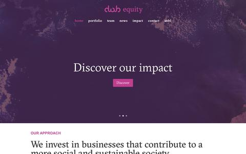 Screenshot of Home Page dobequity.nl - DOB Equity | equity for africa - captured Aug. 5, 2018