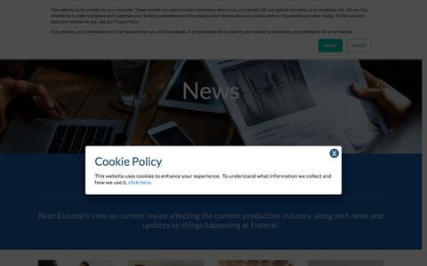 Screenshot of Press Page elateral.com - News - Elateral - captured Oct. 17, 2019