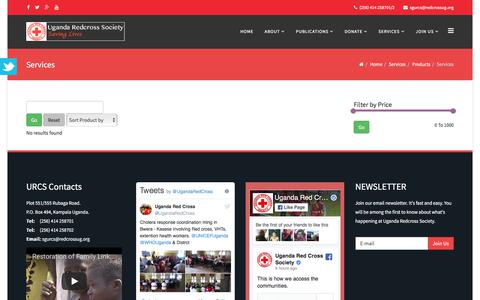 Screenshot of Products Page redcrossug.org - Products - captured Oct. 4, 2017