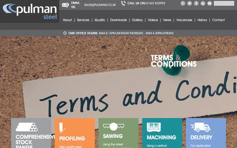 Screenshot of Terms Page pulmans.co.uk - Terms & Conditions - captured Oct. 7, 2017